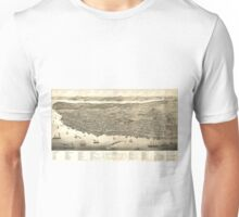 Vintage Pictorial Map of Halifax (1879) Unisex T-Shirt