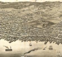 Vintage Pictorial Map of Halifax (1879) Sticker