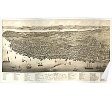Vintage Pictorial Map of Halifax (1879) Poster