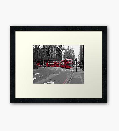 Routemaster Borismaster buses Framed Print