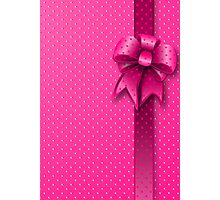 Pink Present Bow Photographic Print