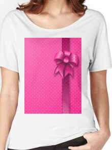 Pink Present Bow Women's Relaxed Fit T-Shirt