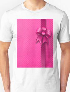 Pink Present Bow Unisex T-Shirt