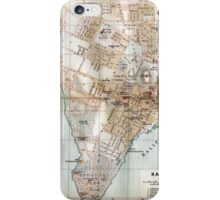 Vintage Map of Halifax Nova Scotia (1890)  iPhone Case/Skin