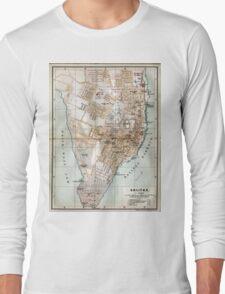 Vintage Map of Halifax Nova Scotia (1890)  Long Sleeve T-Shirt