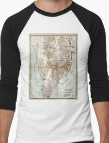 Vintage Map of Halifax Nova Scotia (1890)  Men's Baseball ¾ T-Shirt