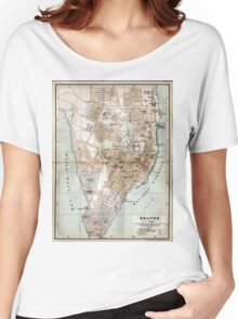 Vintage Map of Halifax Nova Scotia (1890)  Women's Relaxed Fit T-Shirt