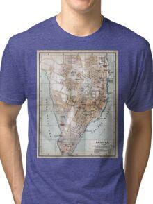 Vintage Map of Halifax Nova Scotia (1890)  Tri-blend T-Shirt