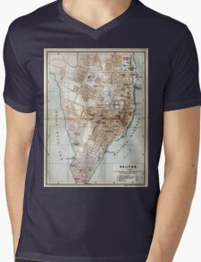 Vintage Map of Halifax Nova Scotia (1890)  Mens V-Neck T-Shirt