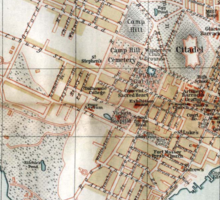Vintage Map of Halifax Nova Scotia (1890)  Sticker