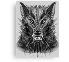 Abstract Wolf Canvas Print