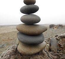 Six Stacked Stones by GoddessChrissy