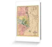 Vintage Map of Halifax Nova Scotia (1878) Greeting Card