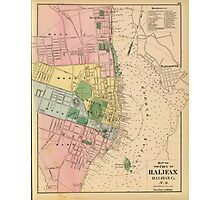 Vintage Map of Halifax Nova Scotia (1878) Photographic Print