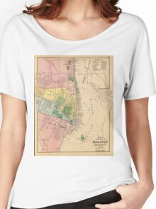 Vintage Map of Halifax Nova Scotia (1878) Women's Relaxed Fit T-Shirt
