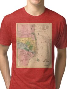Vintage Map of Halifax Nova Scotia (1878) Tri-blend T-Shirt