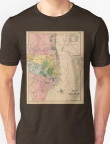 Vintage Map of Halifax Nova Scotia (1878) T-Shirt