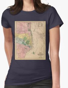 Vintage Map of Halifax Nova Scotia (1878) Womens Fitted T-Shirt