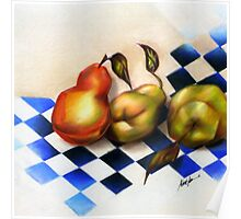Pears on the Harlequin, by Alma Lee Poster