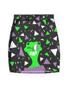 Far Out Triangles! Mini Skirt