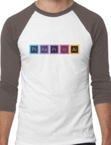 Logo Logiciels Adobe - Flat Men's Baseball ¾ T-Shirt