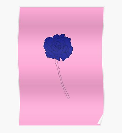 Rose bleue Poster