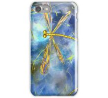 Yellow Dragonfly Flit iPhone Case/Skin