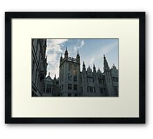 Silver City Architecture - the Magnificent Marischal College at Sunrise Framed Print