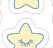Cute Pastel Night Stars Sticker
