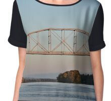 Spanning The Mississippi Chiffon Top