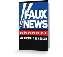 Faux News Channel Greeting Card