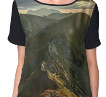 Sunset over mountains Chiffon Top