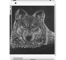 Lone Wolf Scratch Art iPad Case/Skin