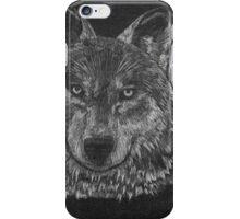 Lone Wolf Scratch Art iPhone Case/Skin