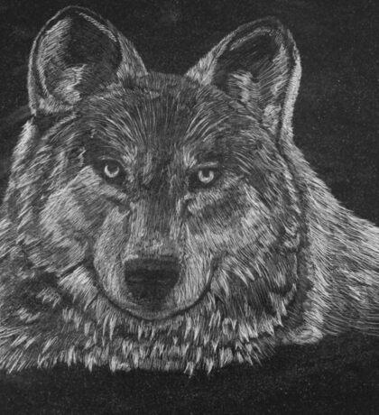 Lone Wolf Scratch Art Sticker