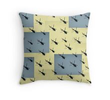 Helifly yellow and grey - Helimosca amarillo y gris Throw Pillow