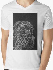 Portrait: Spotted Owl Mens V-Neck T-Shirt