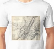 Vintage Map of Harpers Ferry (1863) Unisex T-Shirt