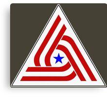 Alien US TriCentennial Flag Patch Canvas Print