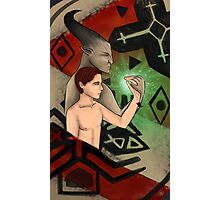 Commission: Bull and Max - Dragon Age Inquisition Tarot Card Photographic Print