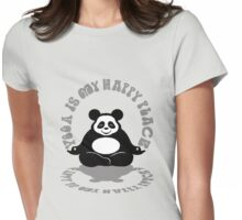 Yoga is my Happy Place. Womens Fitted T-Shirt