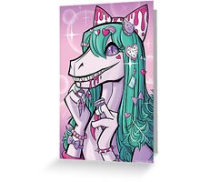 Desusaur Sweet Lolita  Greeting Card