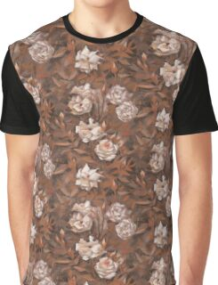"""Rose garden"", classical floral design, earth shades  Graphic T-Shirt"