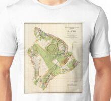Vintage Map of Hawaii Island (1906) Unisex T-Shirt