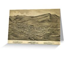 Vintage Pictorial Map of Helena Montana (1875)  Greeting Card