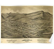Vintage Pictorial Map of Helena Montana (1875)  Poster