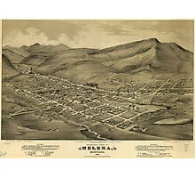 Vintage Pictorial Map of Helena Montana (1875)  Photographic Print