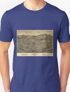 Vintage Pictorial Map of Helena Montana (1875)  T-Shirt