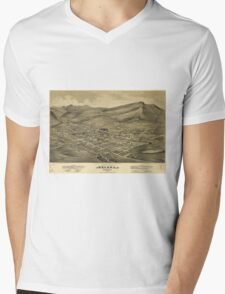 Vintage Pictorial Map of Helena Montana (1875)  Mens V-Neck T-Shirt
