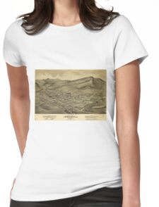 Vintage Pictorial Map of Helena Montana (1875)  Womens Fitted T-Shirt